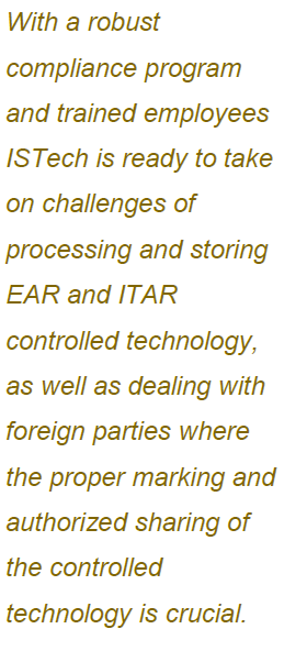 ISTech Selects Linqs as ITAR Compliance Partner